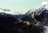 Klondike Highway, looking back station, toward Skagway, May 1977.
