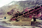 Rock crusher at work on Klondike Highway construction project, August 1977.