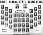 First Alaska State Legislature. House of Representatives. Juneau, Alaska. 1959.