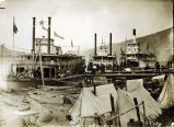 Discharging cargo at Dawson City.