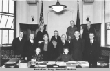 Members of the Senate and Clerical force. Fourteenth Alaska Legislature 1939.