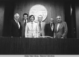 Portrait of Alaska Senate Presidents, June 8, 1978.
