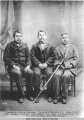 The three chiefs who gave the big potlatch at Kluckwan, Aug. 20, 1900.