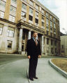 Governor Hammond in front of State Capitol, Alaska.
