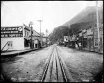 Broadway, Skagway, photo made at midnight.