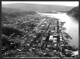 Dawson City, looking up the Yukon, showing mouth of the Klondyke River.