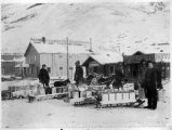Dawson City water works during the winter of 1900.