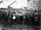 Miners' mass meeting, Dawson City.