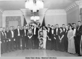 Dinner and dance given by the governor in honor of the officers of the German Cruiser KARLSRUHE,...