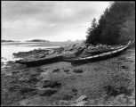 Native Alaskan canoes, Southeast Alaska.