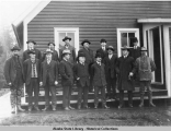 Railroad builders at Cordova, November 1908.