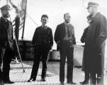 Coast guard officers on deck of NORTHLAND.