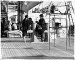 Visitors on board cutter NORTHLAND.