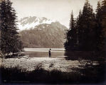 Trout fishing on Lake Eyak, Alaska.