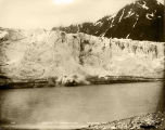 Ice breaking off Childs Glacier, Copper River, Alaska.