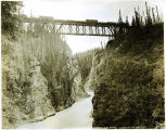 Kuskulana Bridge, Copper River & Northwestern Railway, Alaska.