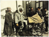 Arrival of winter mail, Nome; John Hegness, Driver.
