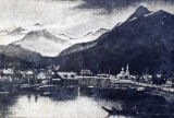 Sketch of Sitka waterfront.