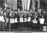 Masonic Grand Lodge Officials attending Cornerstone ceremonies - New public school, Juneau,...