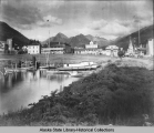 Sitka from the water with Pioneer Home, center - former U.S. Marine Barrack.