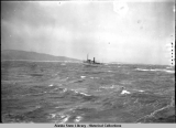 The sinking of the Princess Sophia. (6) Distant view of rescue ship at PRINCESS SOPHIA wreck.