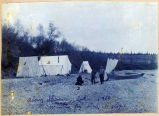 Tents along Iliamna Lake, 1910.