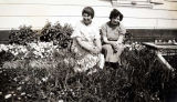 Mrs. Groswalt and Hilda Taylor, Sand Point, Alaska, 1935.