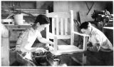 Woodworking class, Wrangell Institute, 1937.