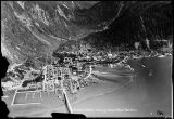 Juneau, Alaska, showing small boat harbor.