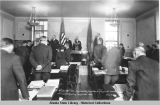 Mr. John W. Troy.  Receiving the Oath of Office at Juneau as Governor of Alaska.  April 19th, 1933.