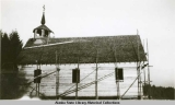 Construction of New Russian Church, Angoon, 1929.