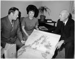 Viewing Russian atlas of Kotzebue's Voyage to Alaska, ca. 1970.