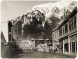 South Franklin Street businesses, Juneau, ca. 1900.
