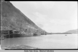 Juneau harbor with four steamships at dock, ca. 1930.
