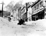 South Franklin Street under snow, ca. 1917.