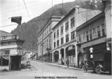 Juneau; corner of Front and Franklin Streets, looking up Franklin, ca. 1913-1918.