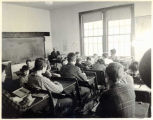 Students at their desks in Ninilchik School, 1948.