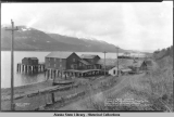 Looking north, showing property of the American Packing Co., Thane Road, Juneau, Alaska.  Standard...