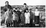 Teacher and students from Naknek, ca. 1932-33.