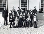 Ninilchik, Alaska, school children and teacher, ca. 1948.