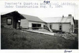 Teacher's quarters and Ruby School addition, August 2, 1934.