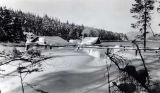 Tee Harbor School surroundings in winter, ca. 1942.