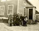 Akiak pupils and teacher, Miss Schlosser, ca. 1930.