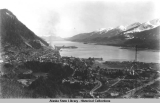 Juneau and Gastineau Channel from the side of Mt. Juneau, ca. 1928.