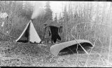 Camp of A. Hasselborg at Yakutat, 1908.