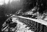 Completed flume, Power Supply Division, Salmon Creek, 1912.