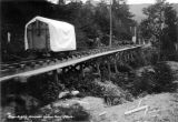 Power Supply Division cement car on trestle, 1913.