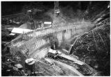 Salmon Creek Dam, 60-foot level, ca. 1913.