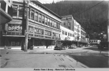 Corner of Front and Seward Streets, Juneau, Alaska, ca. 1940.