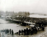 Jam formed above Cushman St. Bridge, Fairbanks, July 1st, 1905.